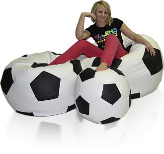 Sedací vak Fotbalový Míč sestava XXXXL