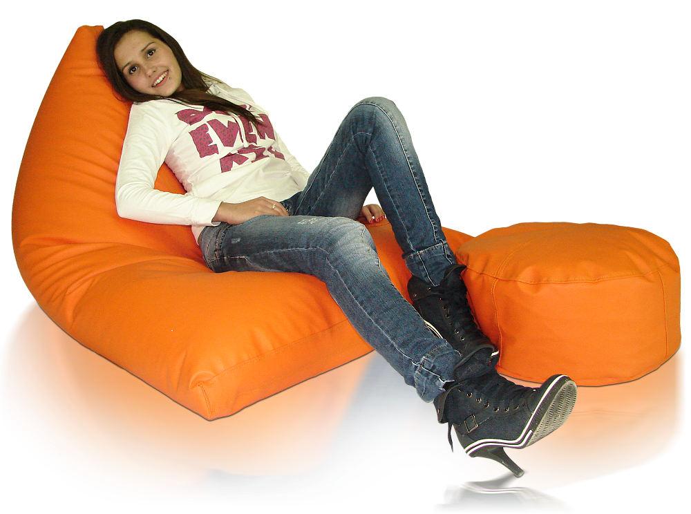 Lehací a sedací vak Cosmo XXXL Relax s podnožkou