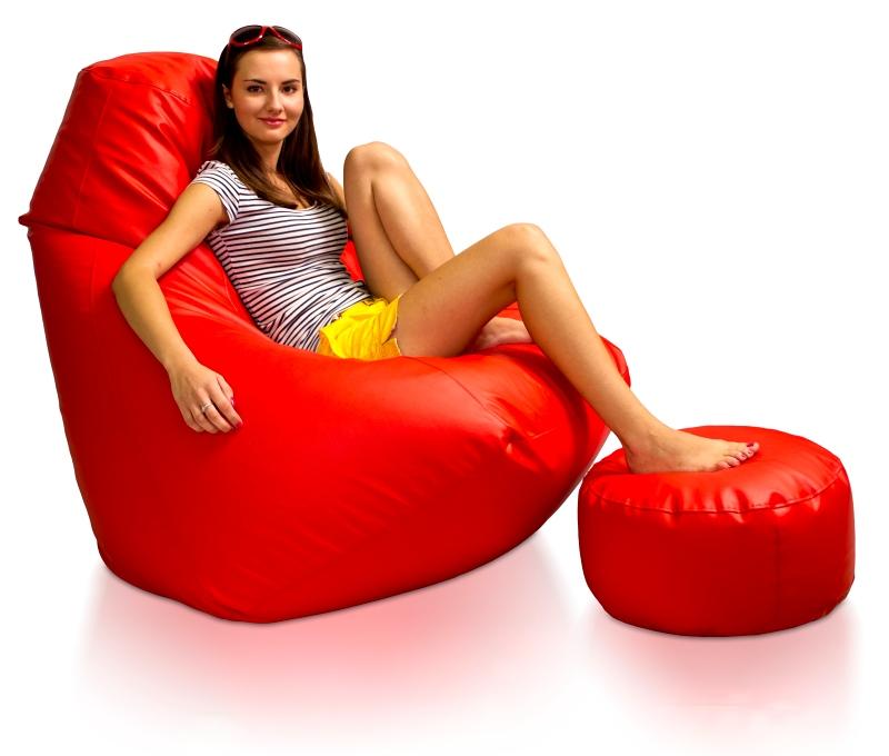 Sedací vak Energy XXXL sestava Relax s podnožkou