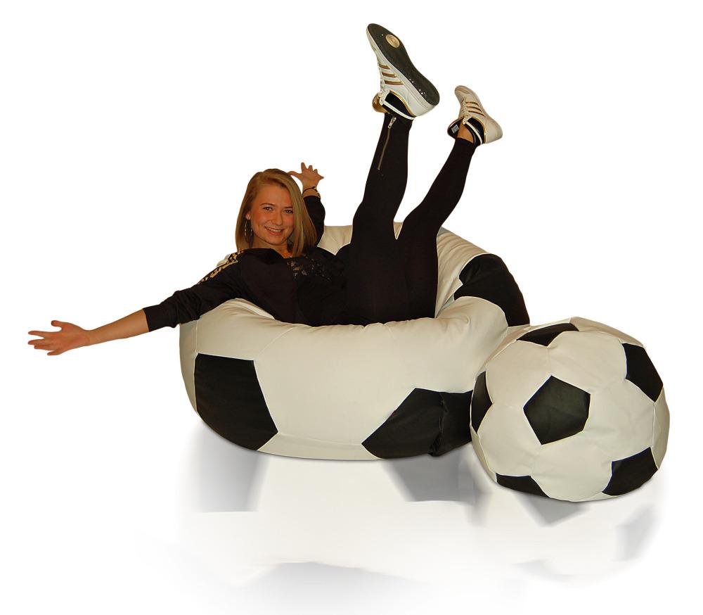 Sedací vak Fotbalový Míč XXXL sestava Relax
