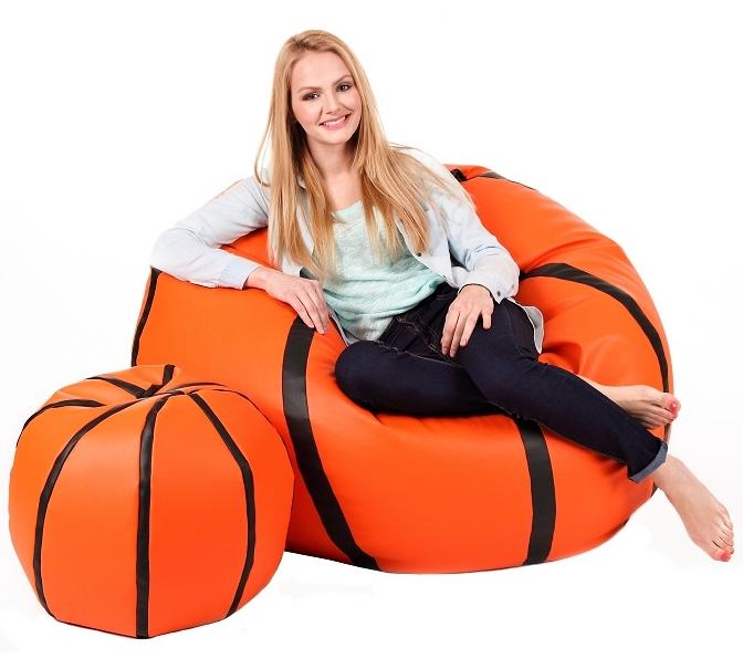 Sedací vak Míč Basketbal XXXL sestava Relax A