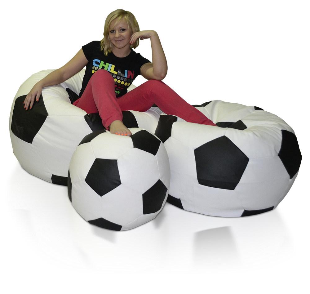 Sedací vak Fotbalový Míč XXXXL sestava Relax