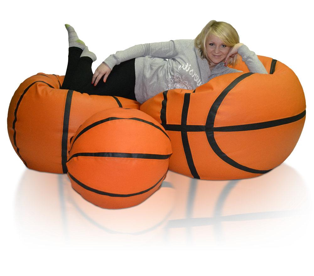 Sedací vak Basketbalový Míč XXXL sestava Relax B