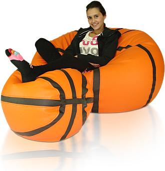 Sedací vak Basketbalový Míč sestava XXXL